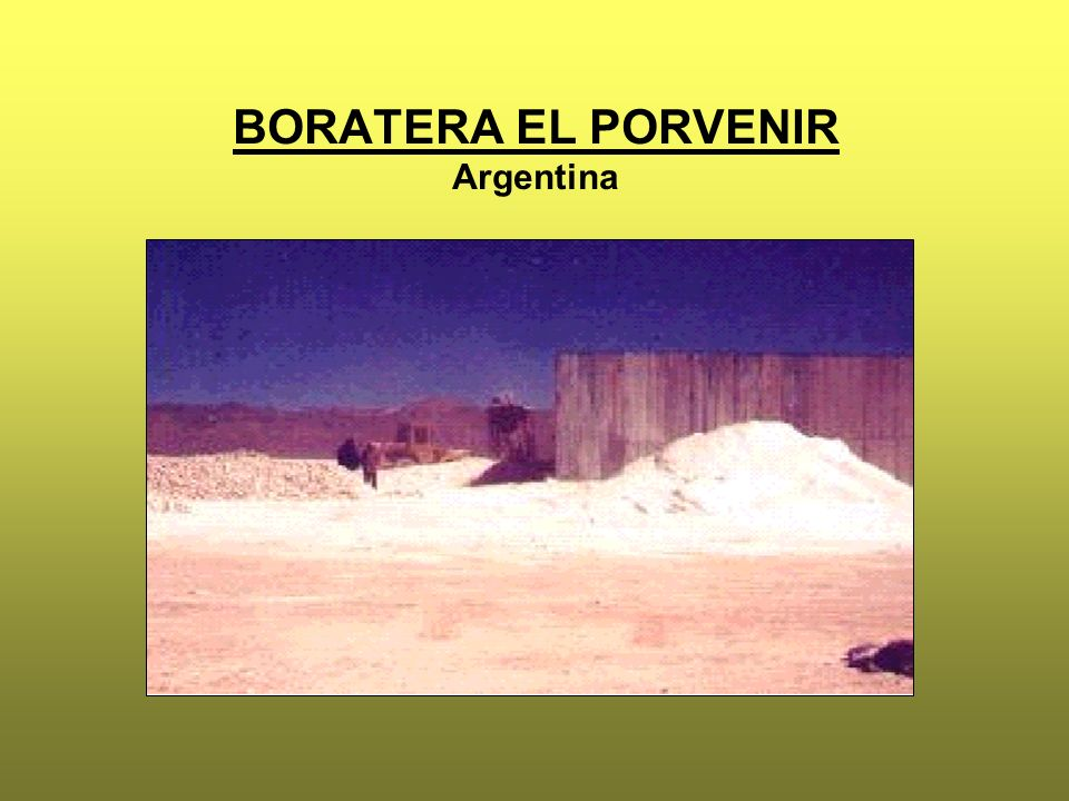 BORATERA EL PORVENIR Argentina