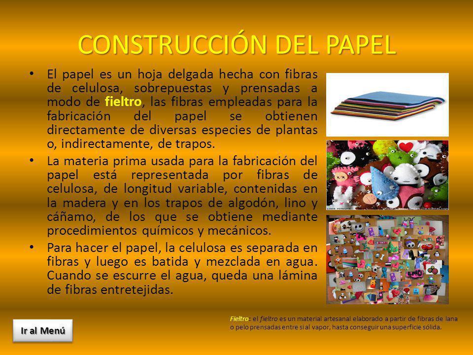 CONSTRUCCIÓN DEL PAPEL