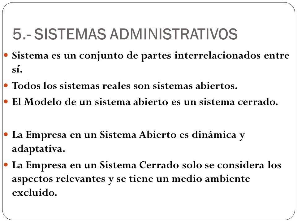 5.- SISTEMAS ADMINISTRATIVOS
