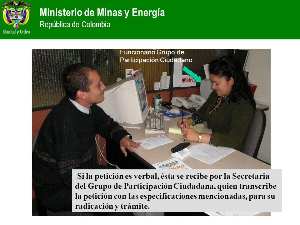 Funcionario Grupo de Participación Ciudadano