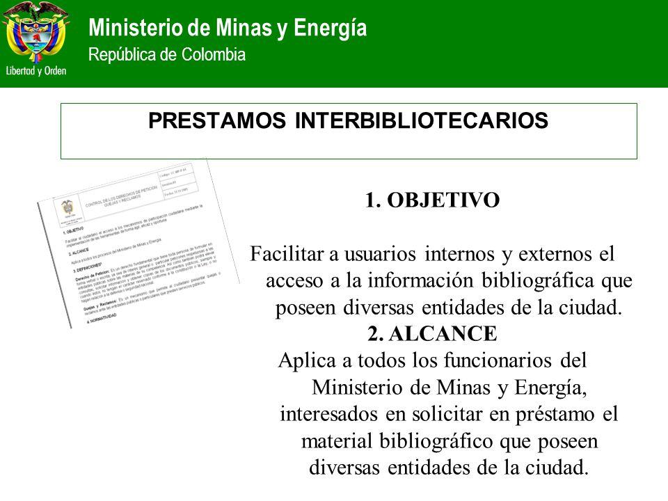 PRESTAMOS INTERBIBLIOTECARIOS