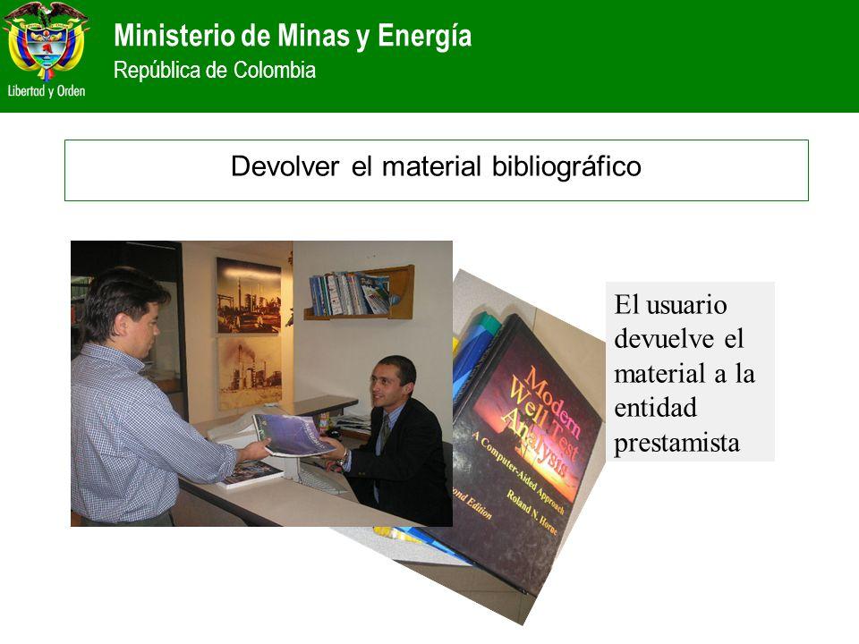 Devolver el material bibliográfico