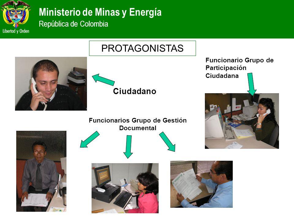 Funcionarios Grupo de Gestión Documental
