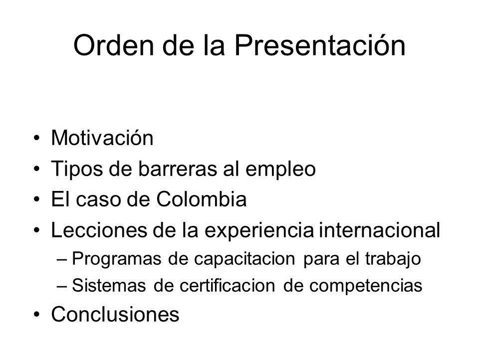 Orden de la Presentación