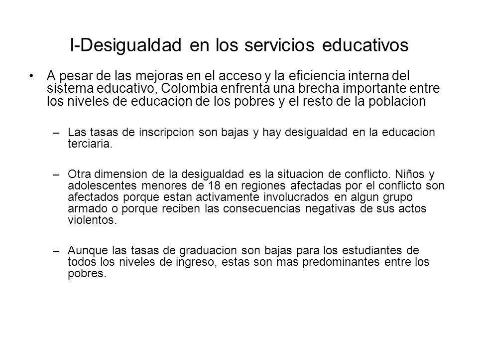 I-Desigualdad en los servicios educativos