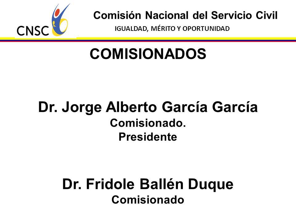 Dr. Jorge Alberto García García Dr. Fridole Ballén Duque