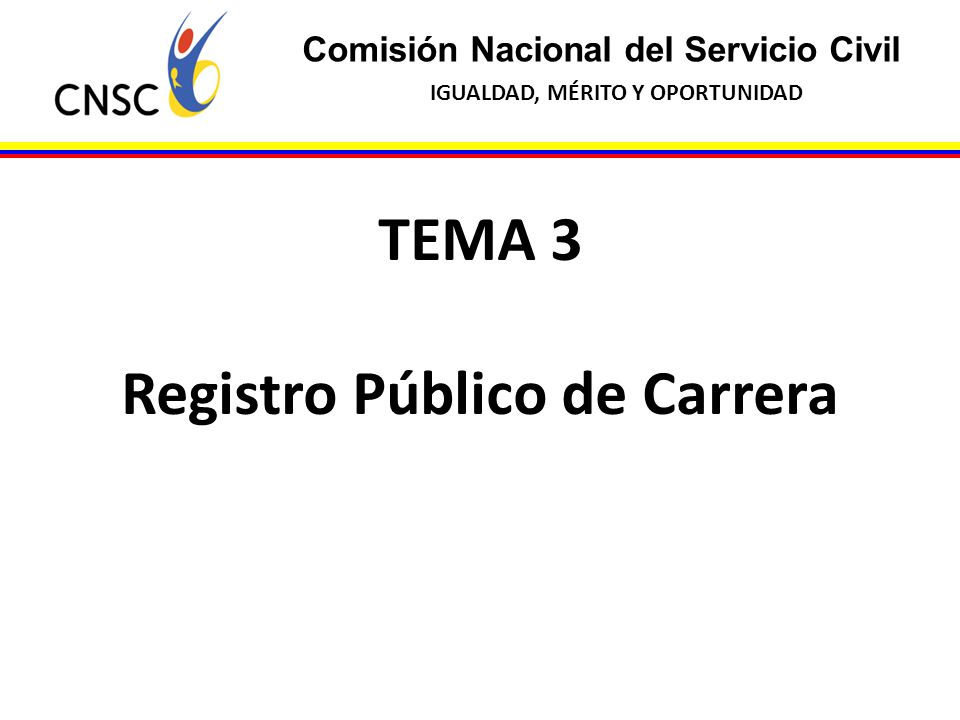 Registro Público de Carrera