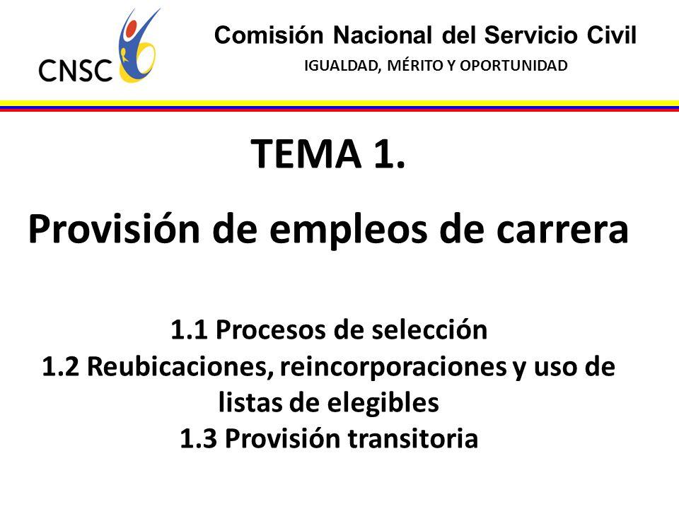 TEMA 1. Provisión de empleos de carrera