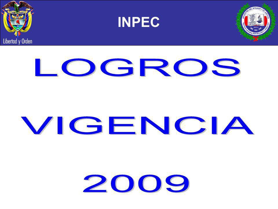 INPEC LOGROS VIGENCIA 2009
