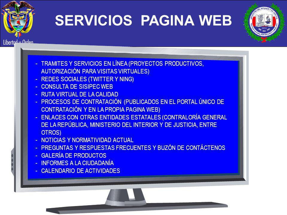 SERVICIOS PAGINA WEB - TRAMITES Y SERVICIOS EN LÍNEA (PROYECTOS PRODUCTIVOS, AUTORIZACIÓN PARA VISITAS VIRTUALES)