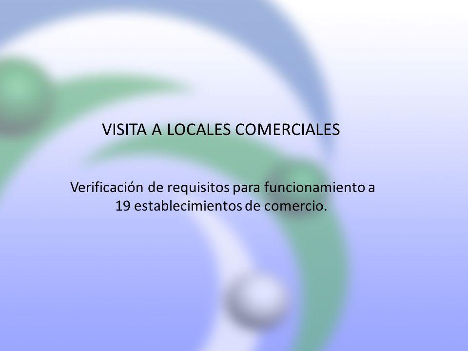 VISITA A LOCALES COMERCIALES