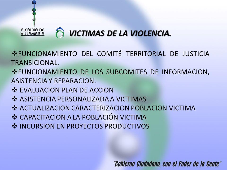 VICTIMAS DE LA VIOLENCIA.