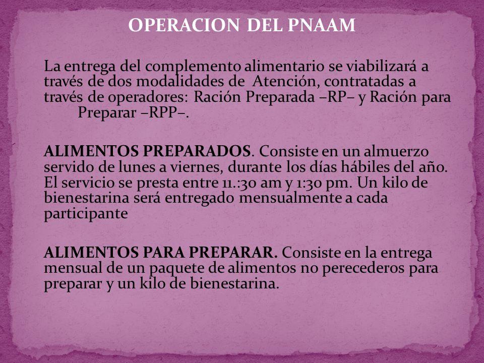 OPERACION DEL PNAAM