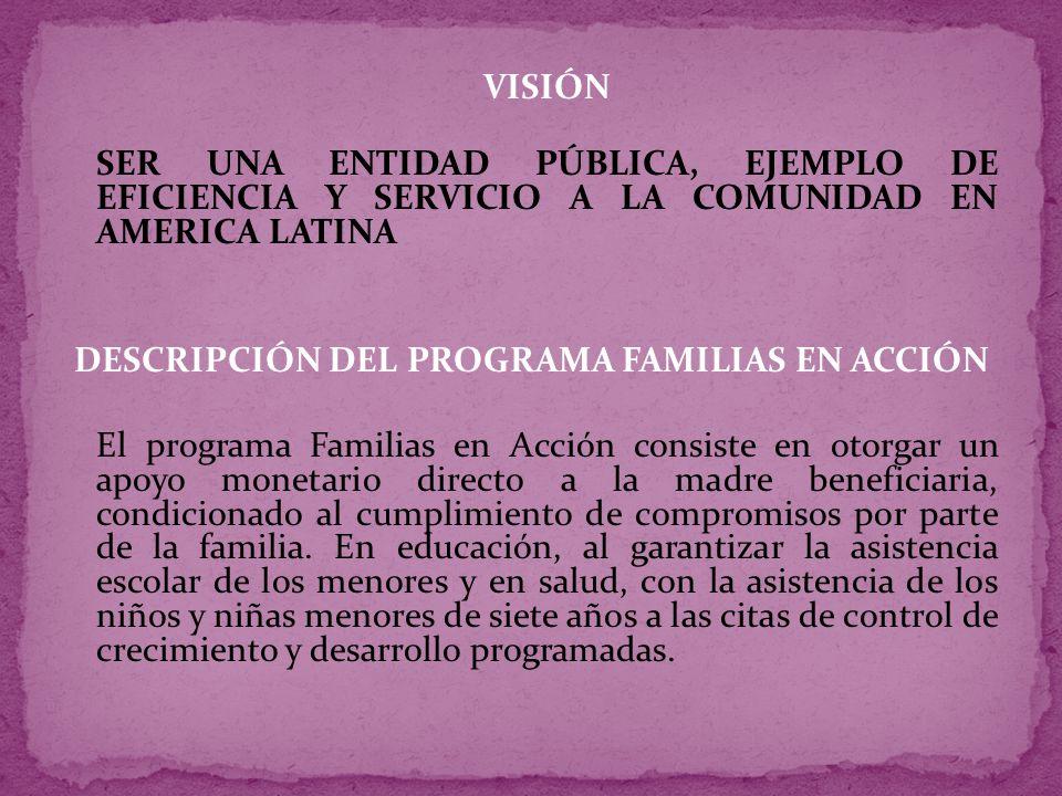 DESCRIPCIÓN DEL PROGRAMA FAMILIAS EN ACCIÓN