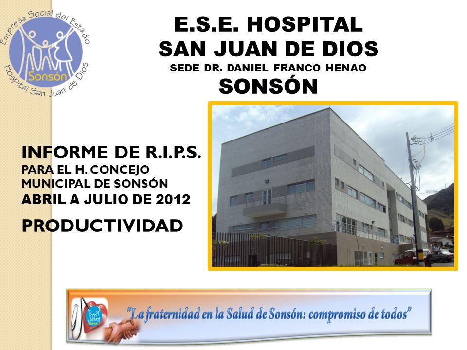 E.S.E. HOSPITAL SAN JUAN DE DIOS