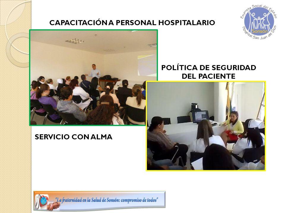 CAPACITACIÓN A PERSONAL HOSPITALARIO