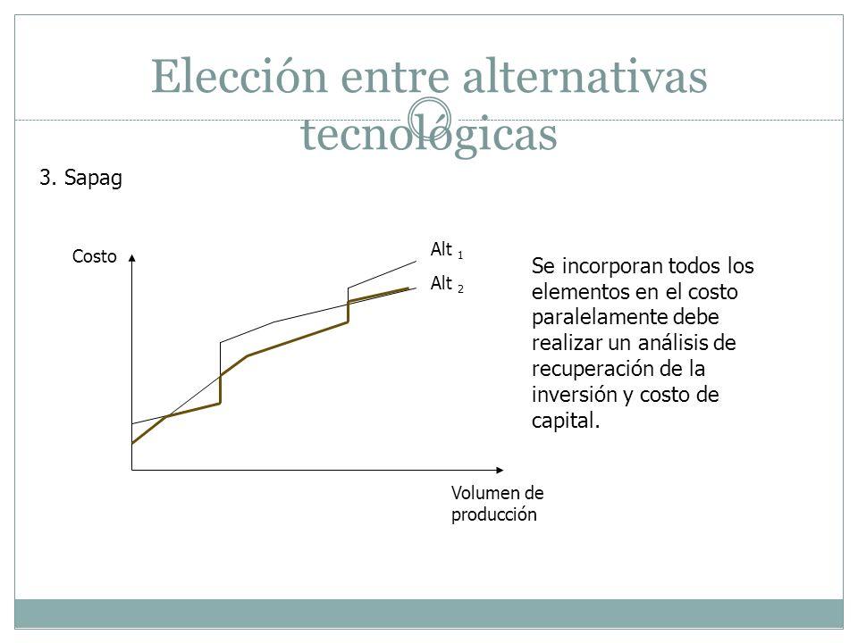 Elección entre alternativas tecnológicas