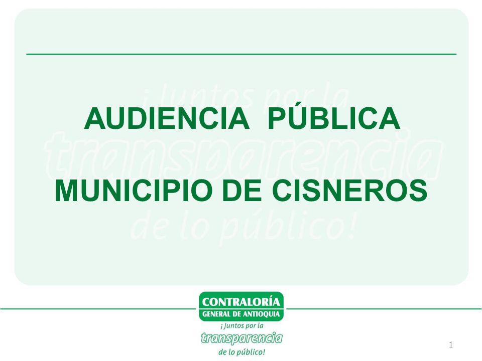 AUDIENCIA PÚBLICA MUNICIPIO DE CISNEROS