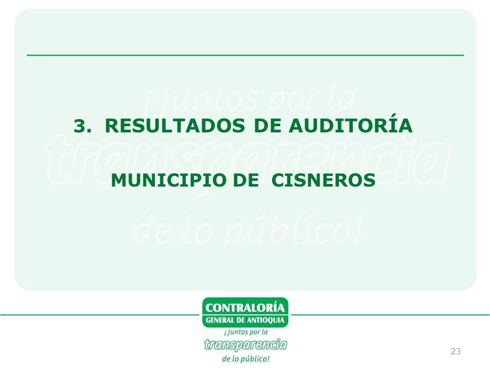3. RESULTADOS DE AUDITORÍA