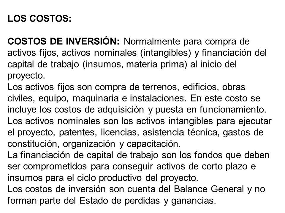 LOS COSTOS: