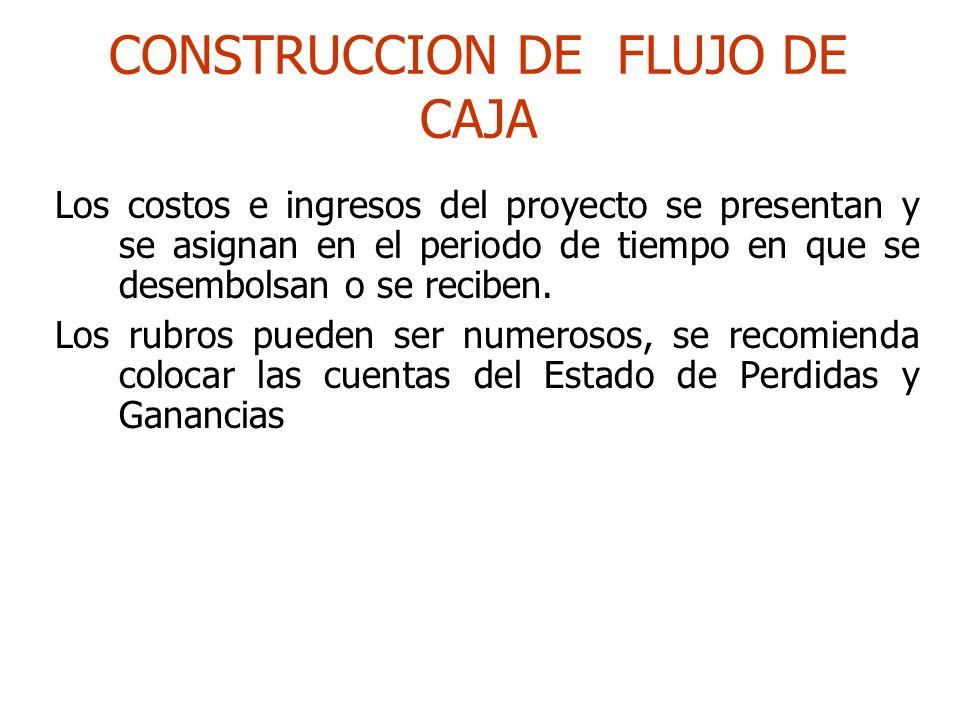 CONSTRUCCION DE FLUJO DE CAJA