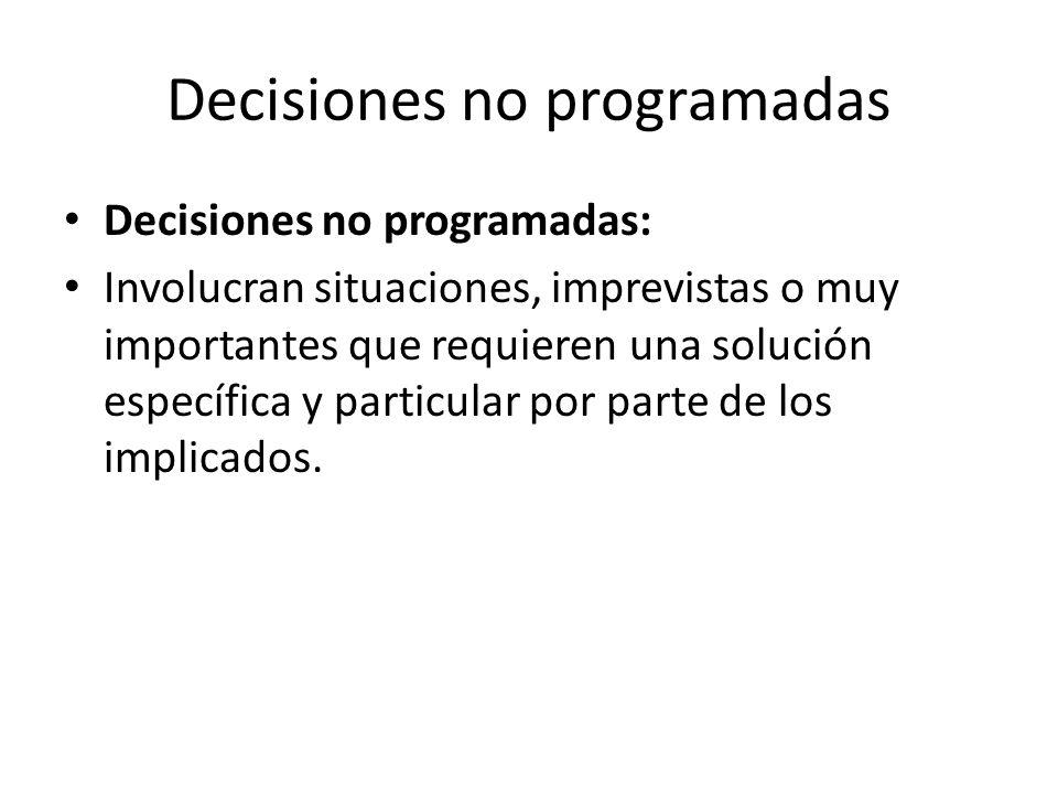 Decisiones no programadas