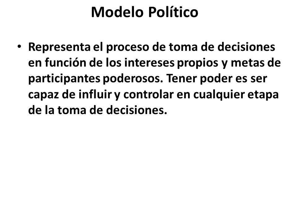 Modelo Político