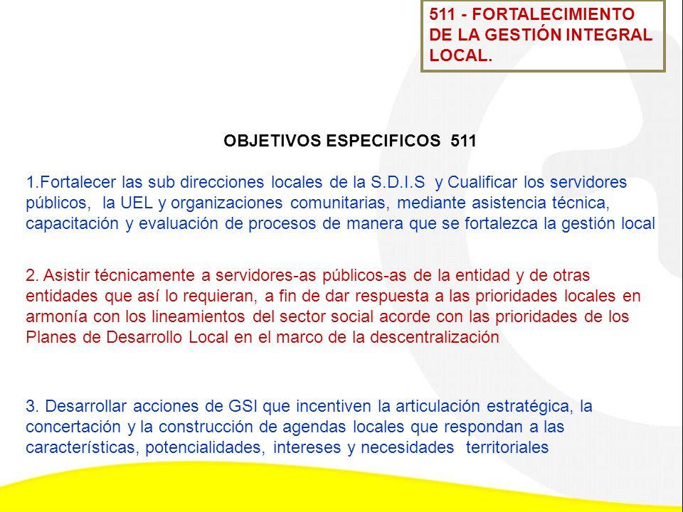 OBJETIVOS ESPECIFICOS 511