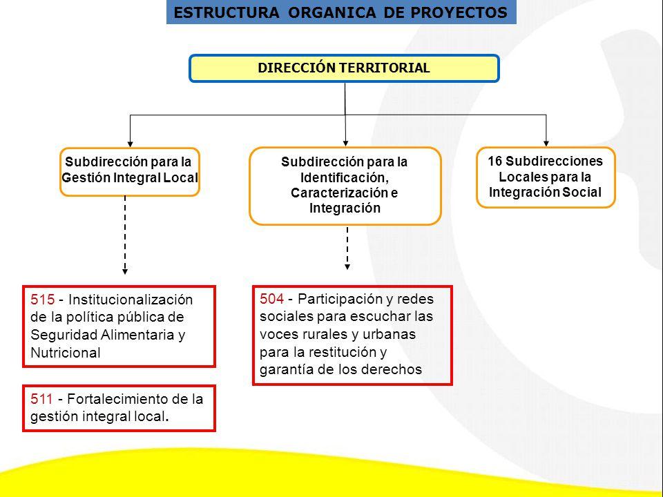 ESTRUCTURA ORGANICA DE PROYECTOS