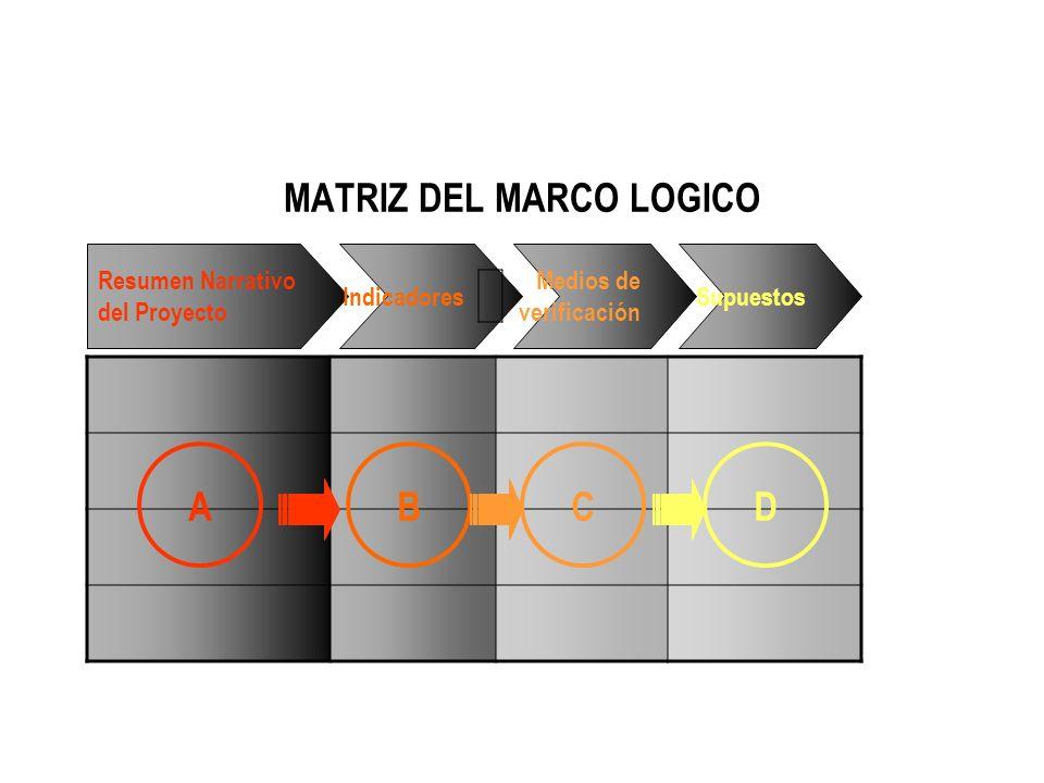 MATRIZ DEL MARCO LOGICO