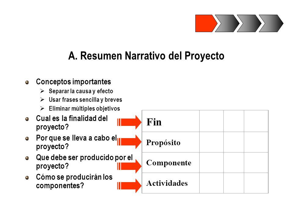 A. Resumen Narrativo del Proyecto