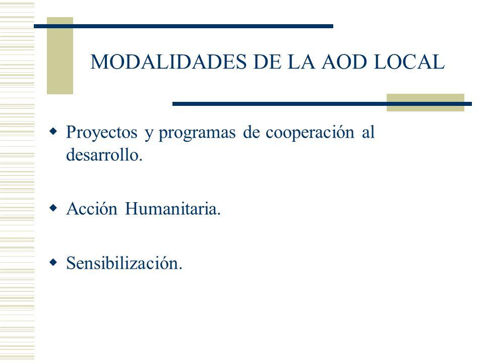 MODALIDADES DE LA AOD LOCAL