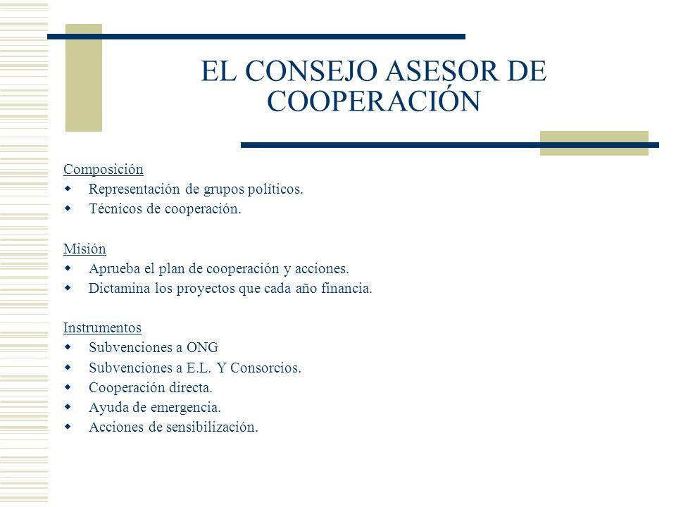 EL CONSEJO ASESOR DE COOPERACIÓN