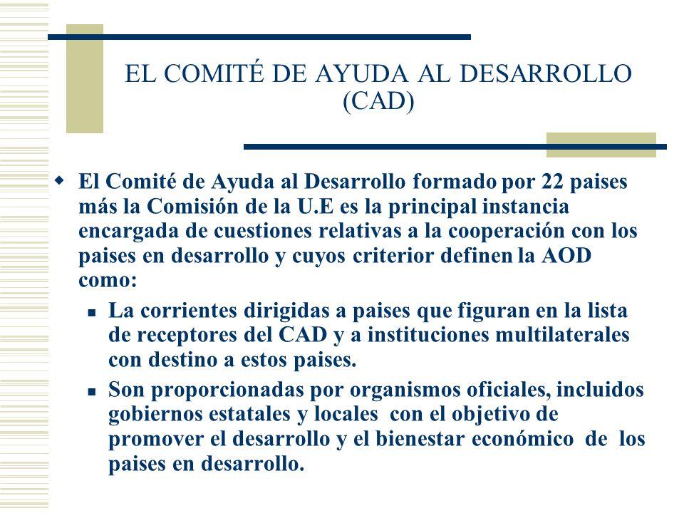 EL COMITÉ DE AYUDA AL DESARROLLO (CAD)