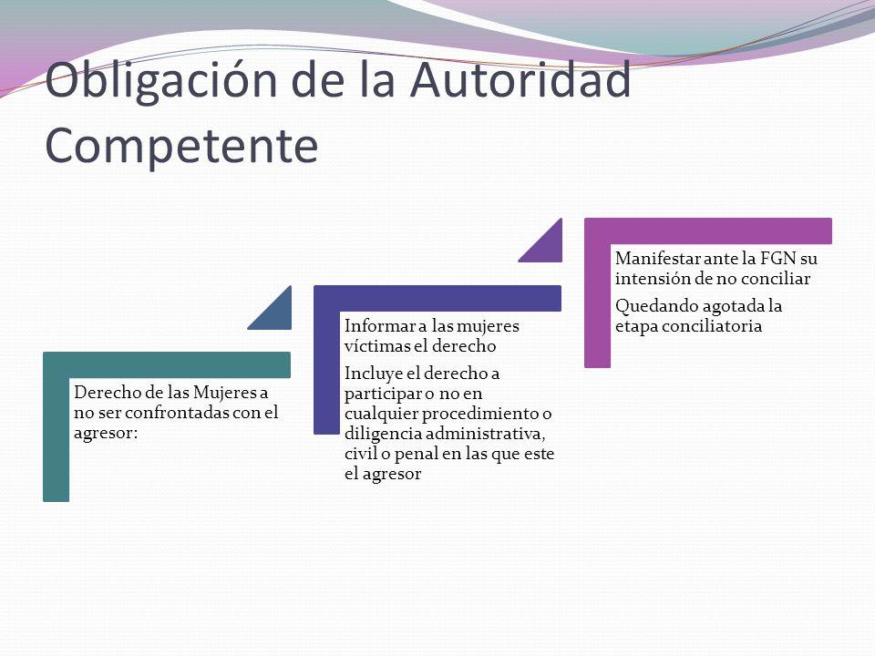 Obligación de la Autoridad Competente