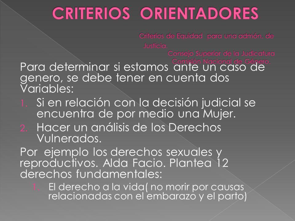 CRITERIOS ORIENTADORES. Criterios de Equidad para una admón