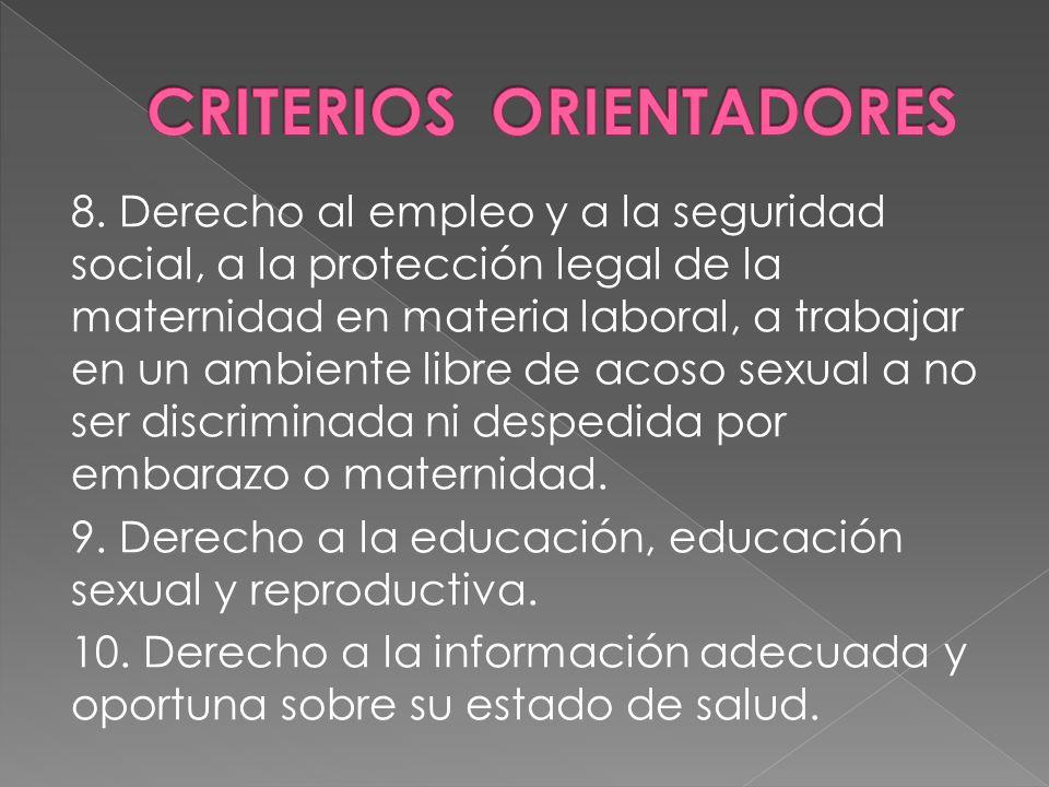 CRITERIOS ORIENTADORES