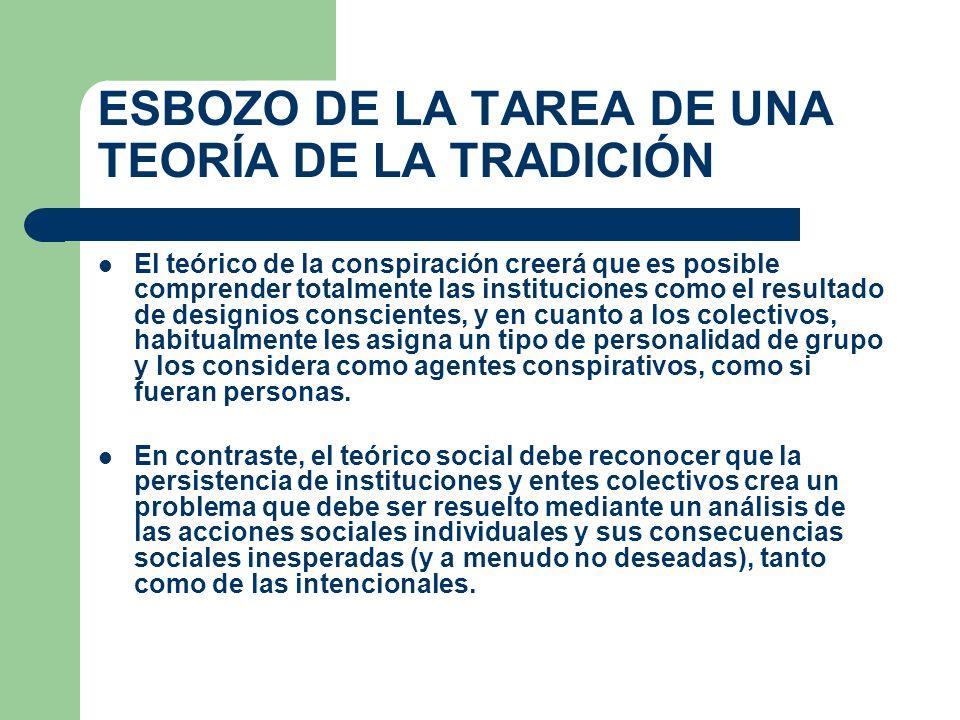 ESBOZO DE LA TAREA DE UNA TEORÍA DE LA TRADICIÓN