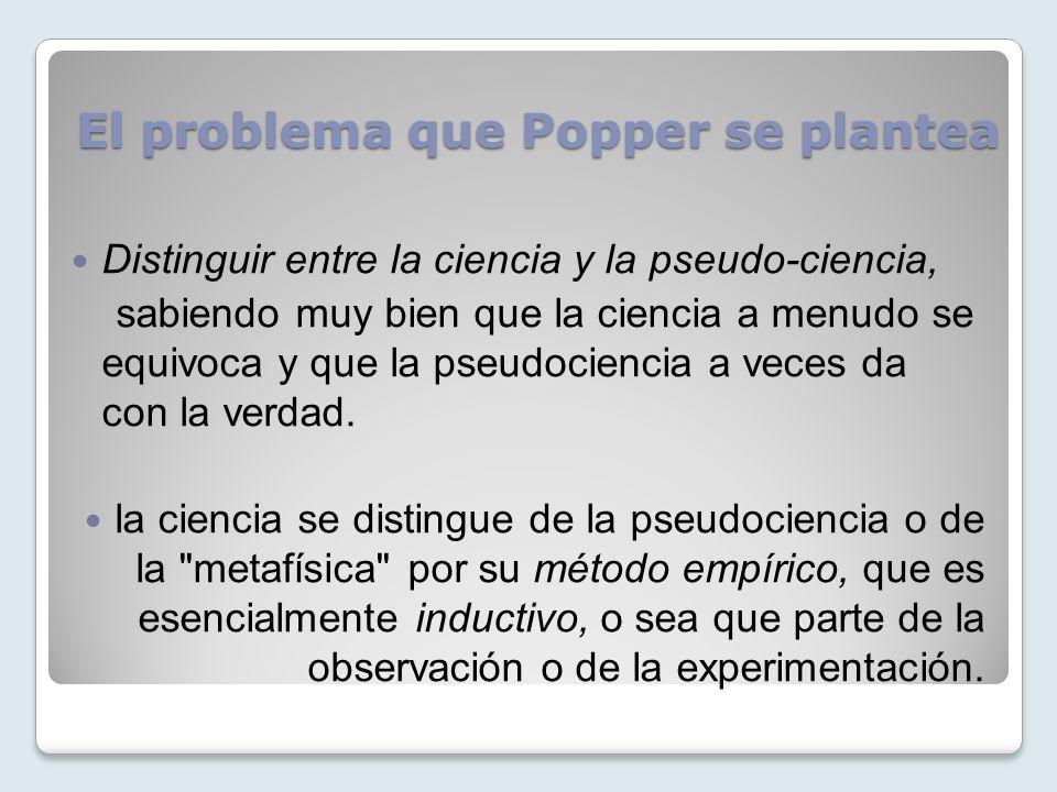 El problema que Popper se plantea