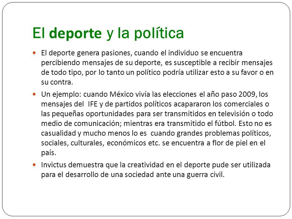 El deporte y la política