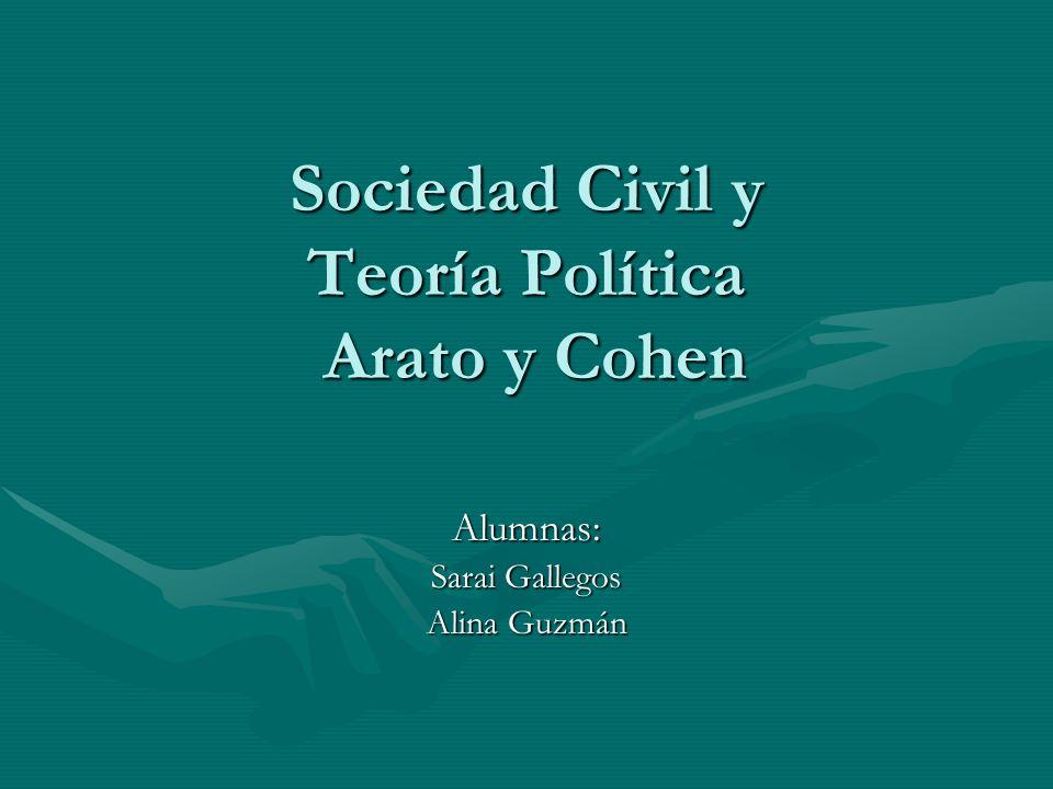 Sociedad Civil y Teoría Política Arato y Cohen
