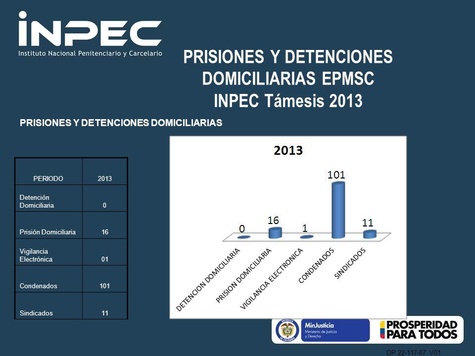 PRISIONES Y DETENCIONES DOMICILIARIAS EPMSC INPEC Támesis 2013