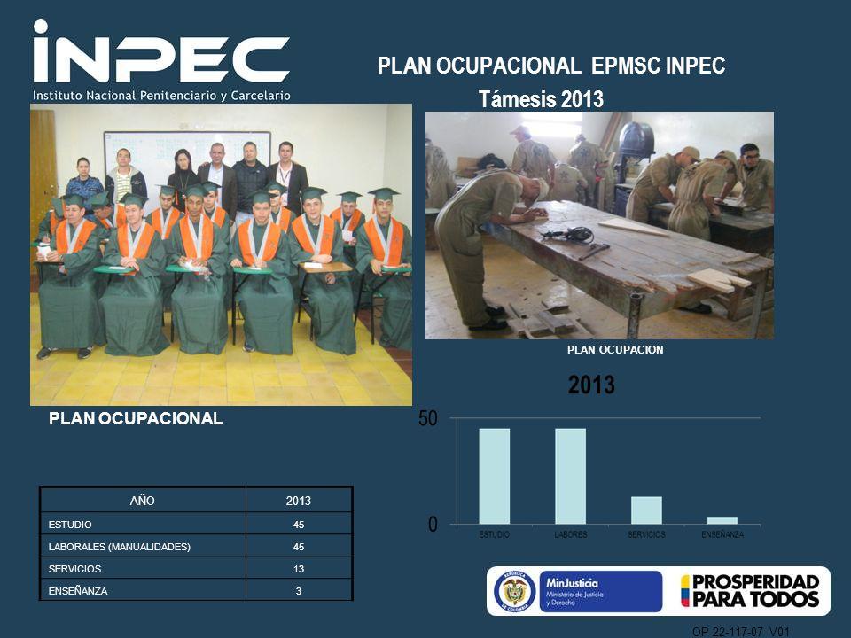 PLAN OCUPACIONAL EPMSC INPEC Támesis 2013