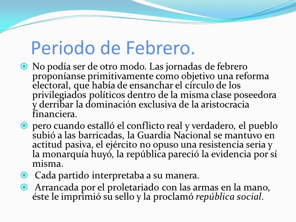Periodo de Febrero.