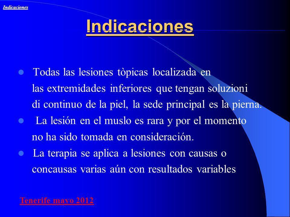 Indicaciones Todas las lesiones tòpicas localizada en