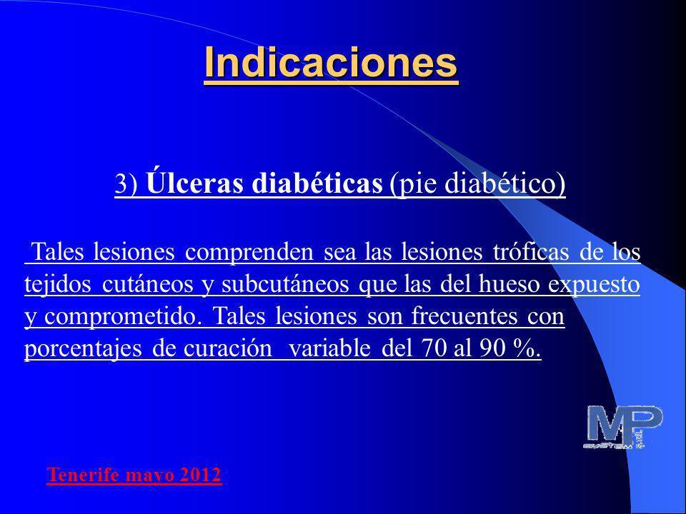 3) Úlceras diabéticas (pie diabético)