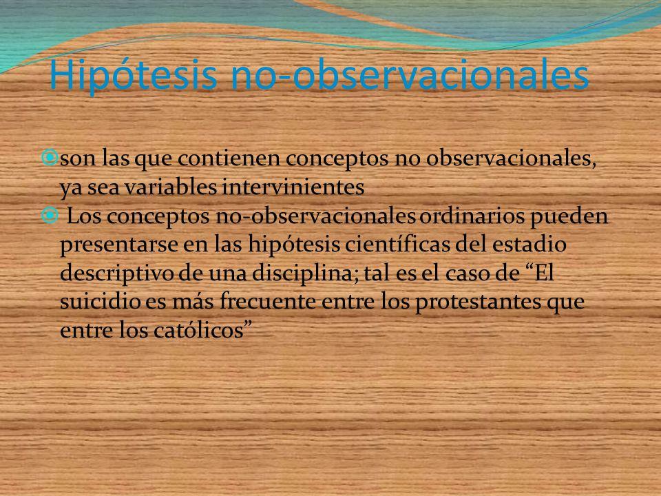 Hipótesis no-observacionales