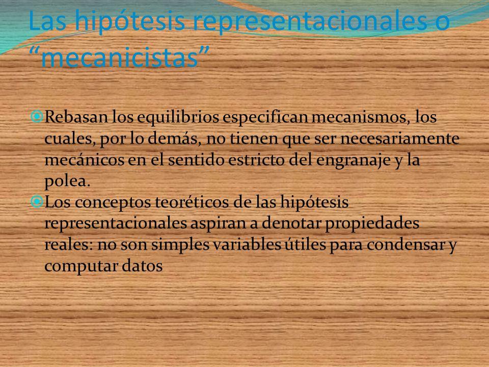 Las hipótesis representacionales o mecanicistas