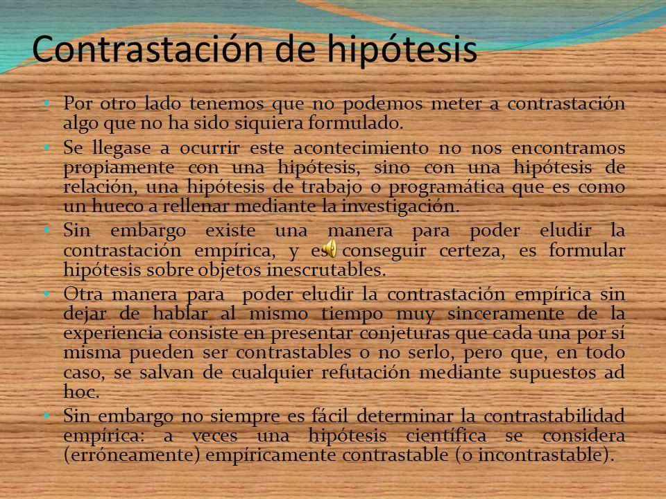 Contrastación de hipótesis