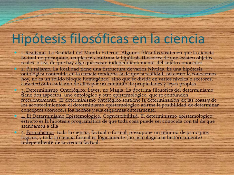 Hipótesis filosóficas en la ciencia